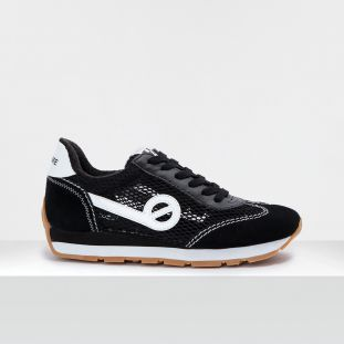 CITY RUN JOGGER - SUEDE/SQUASH - BLACK/BLACK
