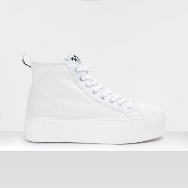 IRON MID - CANVAS - WHITE FOX WHITE
