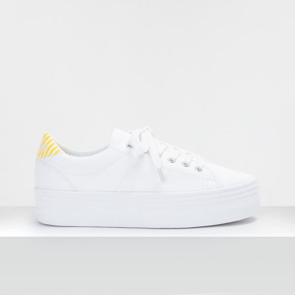PLATO M SNEAKER - CANVAS/P.STRIPE - WHITE/SUN