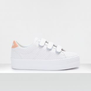 PLATO M STRAPS - PUNCH NAPPA/PAT - WHITE/BLUSH **WN