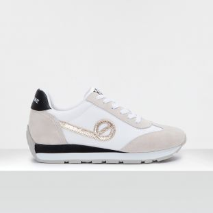CITY RUN JOGGER - SUEDE/BREAKER - WHITE/OFF WHITE