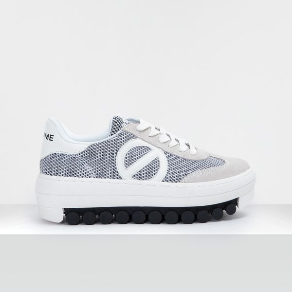 ROLLER SNEAKER - SUEDE/SHEM - WHITE