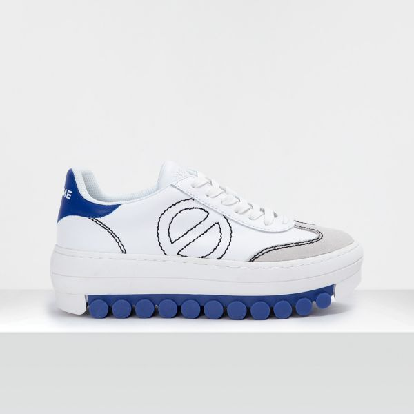 ROLLER SNEAKER - SUEDE/SOFT - WHITE/BLUE