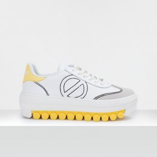 ROLLER SNEAKER - SUEDE/SOFT - WHITE/SUN