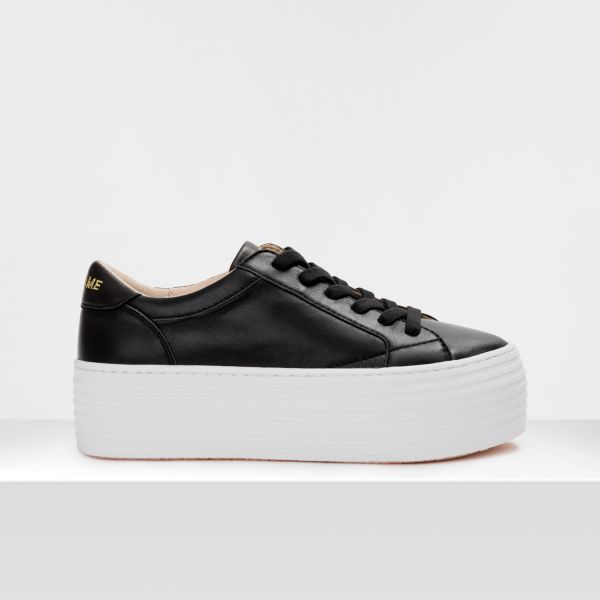 SPICE SNEAKER - LAMBSKIN - BLACK FOX WHITE