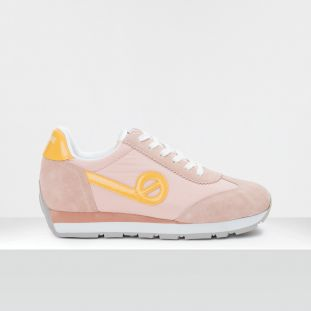 CITY RUN JOGGER - NYLON/SUEDE - PEACH/PEACH