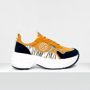 NITRO JOGGER - NYL/SUEDE/ZEBRA - HONEY/NAVY