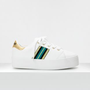 PLATO DERBY - NAPPA/CRACKLE - WHITE/SUNSHINE