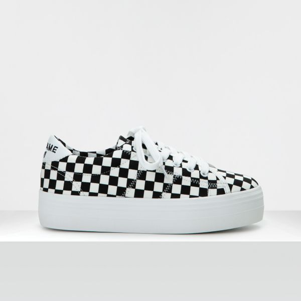PLATO SNEAKER - CHECKER - BLACK/WHITE