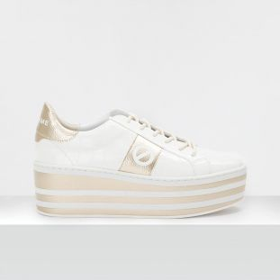 Boost Sneaker - Shine P.Croco - White