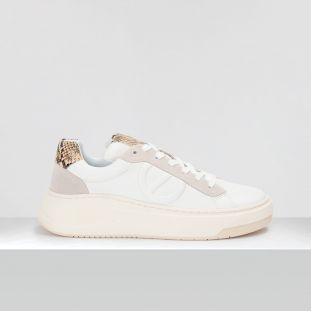 Bridget Trainer - Gr.Napa/P.Kobra - White/Natural