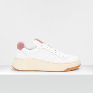 BRIDGET TRAINER - GR.NAPPA/SUEDE - WHITE/OLD PINK