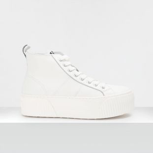 Iron Mid - Nappa Grain - White