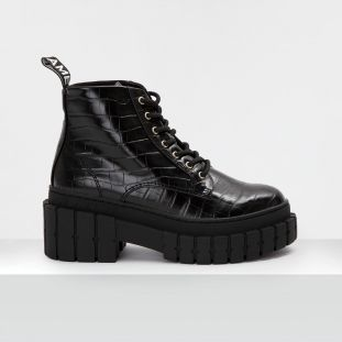 Kross Low Boots - Shine P.Croco - Black