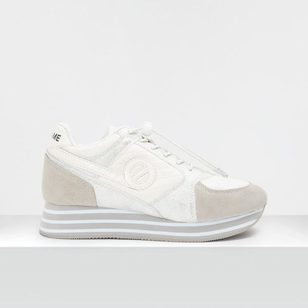 PARKO JOGGER - SUEDE/PADDED - WHITE