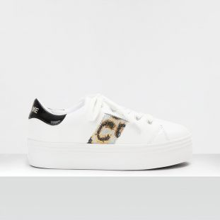 Plato M Derby - Nappa/Galon - White/Silver-Gold