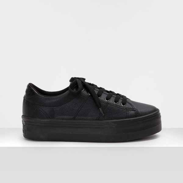 PLATO M SNEAKER - SHADOW/P.CROCO - BLACK
