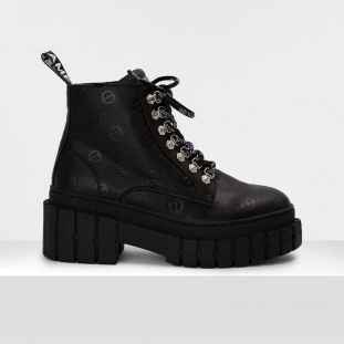 KROSS LOW BOOTS - NAPPA EMBOSSED - BLACK