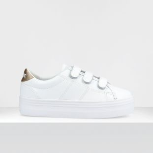 Plato M Straps - Nappa/Shadow - White/Gold