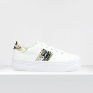 PLATO M DERBY - CANV/CLOSTER/MX - WHITE/L.GOLD/SILVER
