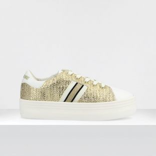 PLATO M DERBY - SOFT/RAFFY - OFF WHITE/L.GOLD