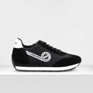 CITY RUN JOGGER - SUEDE/BREAKER - BLACK