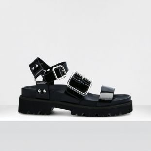 JUNE SANDAL - PATENT - BLACK