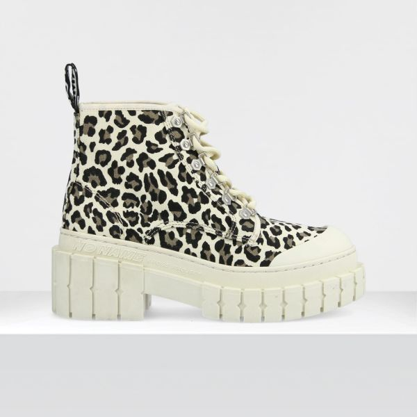 KROSS LOW BOOTS - CANVAS GUEPARD - STONE SOLE STONE