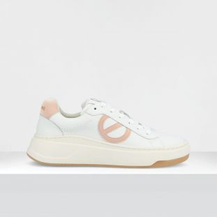 BRIDGET TRAINER - GR.NAPPA/GUM - WHITE/BLUSH