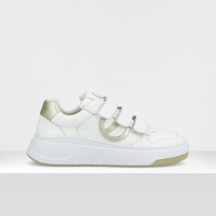 BRIDGET STRAPS - GR.NAPPA/SOFT - WHITE/GOLD