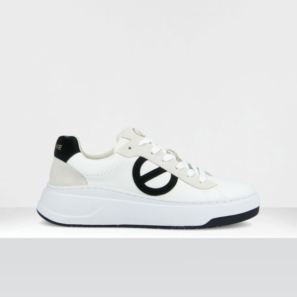 BRIDGET TRAINER - GR.NAPPA/GUM - WHITE/BLACK **WN