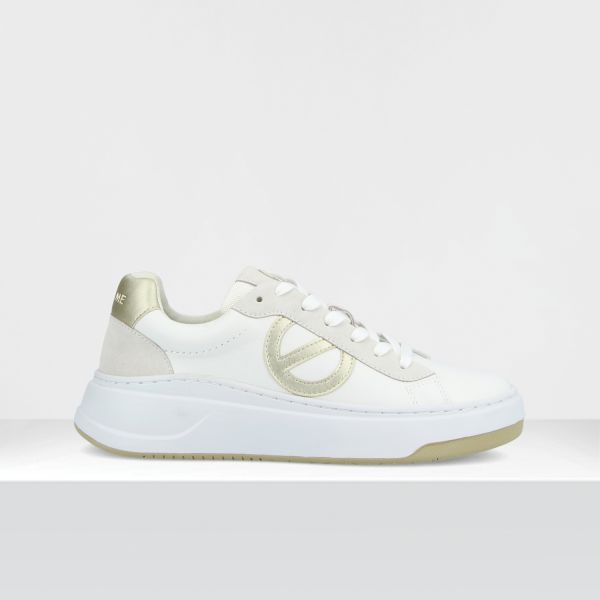 BRIDGET TRAINER - GR.NAPPA/SOFT - WHITE/GOLD **WN