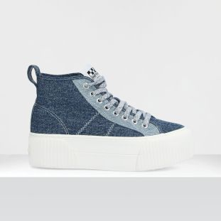 IRON MID - WASHED DENIM - BLUE SOLE DOVE **WN