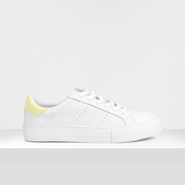 ARCADE SNEAKER - NAPPA GRAIN/GUM - WHITE/YELLOW