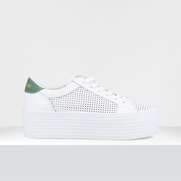 SPICE SNEAKER - SAVAGE PERF/GUM - WHITE/TILLEUL