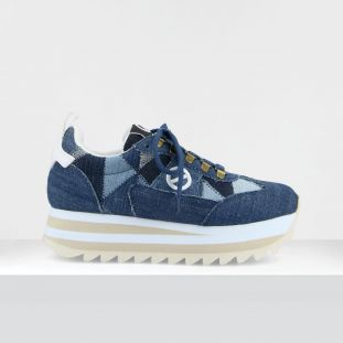 FLEX M RIPPLE - PATCHW.RECYCLED - BLUE JEAN