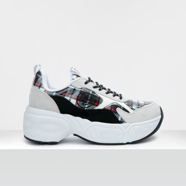 NITRO JOGGER - COWSUEDE/PROOF - WHITE/BLACK