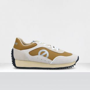 PUNKY JOGGER - SUEDE/TH.NYLON - WHITE/CAMEL