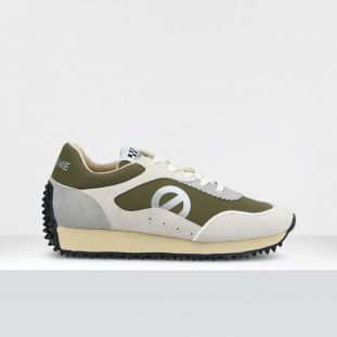 PUNKY JOGGER - SUEDE/TH.NYLON - WHITE/FOREST