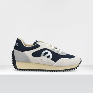PUNKY JOGGER - SUEDE/TH.NYLON - WHITE/NAVY