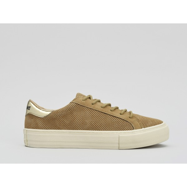 NO NAME ARCADE SNEAKER - PUNCH GOAT SUED - SABLE FOX DOVE