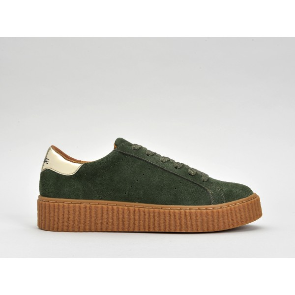 NO NAME PICADILLY SNEAKER - SUEDE - CEDRE SOLE MASTIC