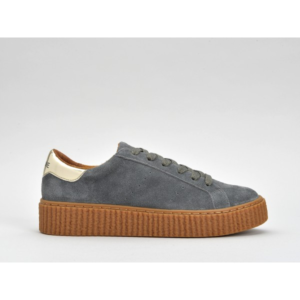 NO NAME PICADILLY SNEAKER - SUEDE - CIMENT SOLE MASTIC