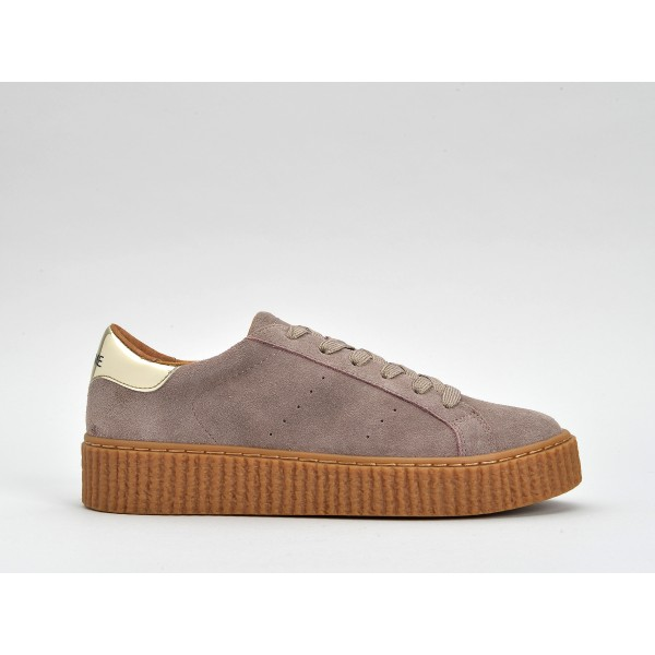 NO NAME PICADILLY SNEAKER - SUEDE - PARME SOLE MASTIC