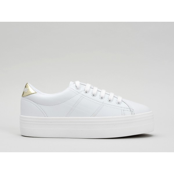 NO NAME PLATO SNEAKER - NAPPA/GLASS - WHITE/L.GOLD FXWHITE