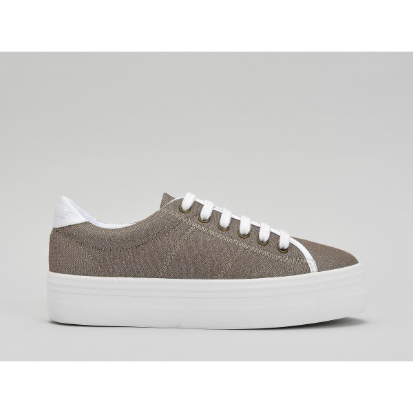 NO NAME PLATO SNEAKER - STRASS - SEPIA FOX WHITE