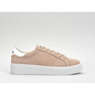 PICADILLY SNEAKER - SUEDE - POUDRE SOLE WHITE