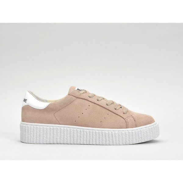 NO NAME PICADILLY SNEAKER - SUEDE - POUDRE SOLE WHITE