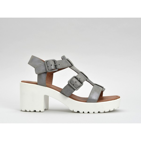 NO NAME TANGO SANDAL - GLOW - ACIER SOLE WHITE