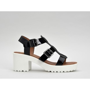 TANGO SANDAL - GLASS - BLACK SOLE WHITE
